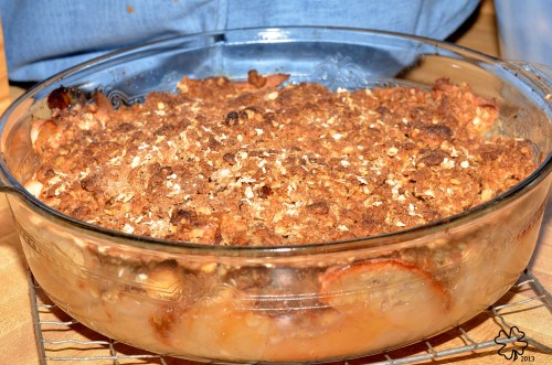 Apple Crisp, enough (barely) for 12!